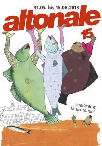 Siegerplakat von Dorothea Kraft im Plakatwettbewerb der Altonale 2013
