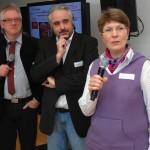Gyn Kraft mit Andreas Berndt bei ihrer Vorstellung der Kooperation des Monats. Links im Bild Dr. Edzard Niemeyer. Foto: JaMedia