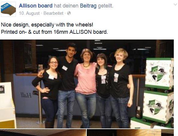 Allison Board facebook post